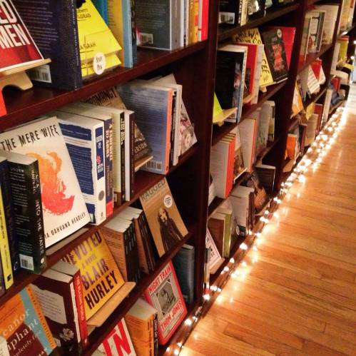 papercuts jp bookstore twinkle lights