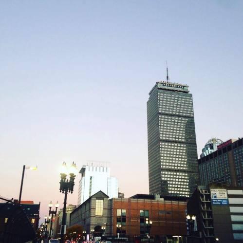 prudential Boston sunset back bay
