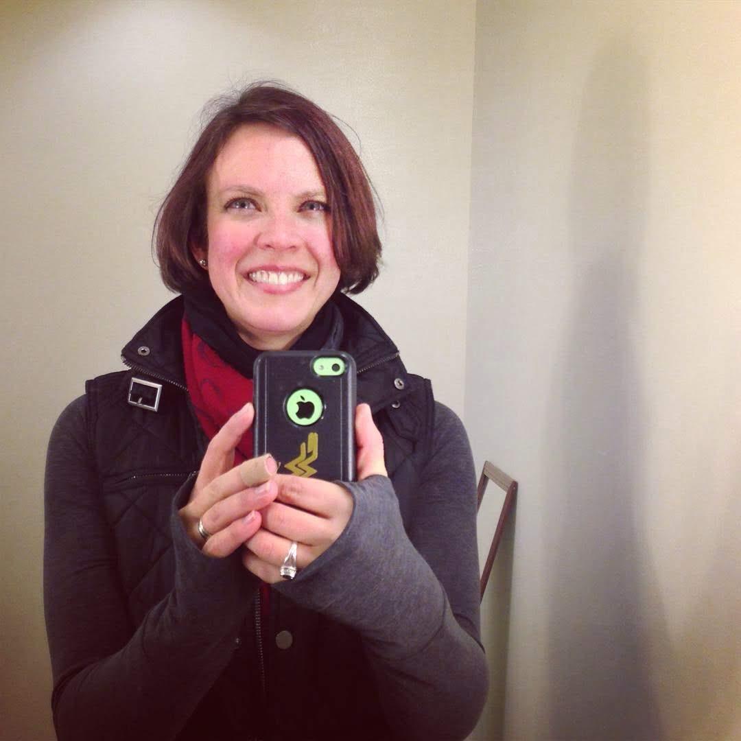 Katie post bike ride selfie