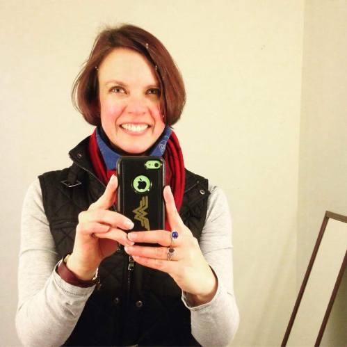 Katie selfie mirror post bike ride