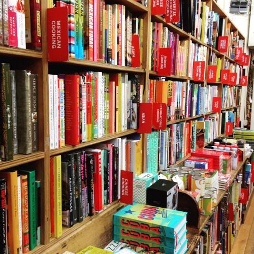 strand bookstore cookbook shelves