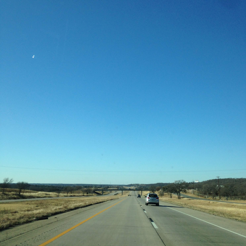 blue sky highway Texas