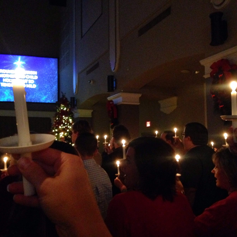 candles Christmas Eve silent night fbc