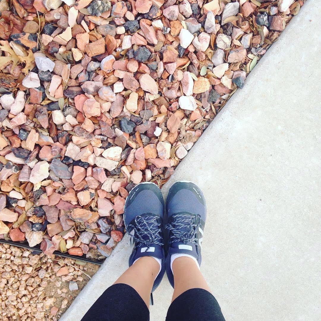 sneakers rocks running west Texas
