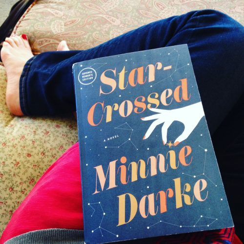 star crossed book jeans bare feet chair