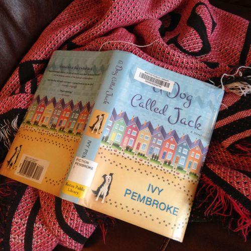 dog jack book blanket