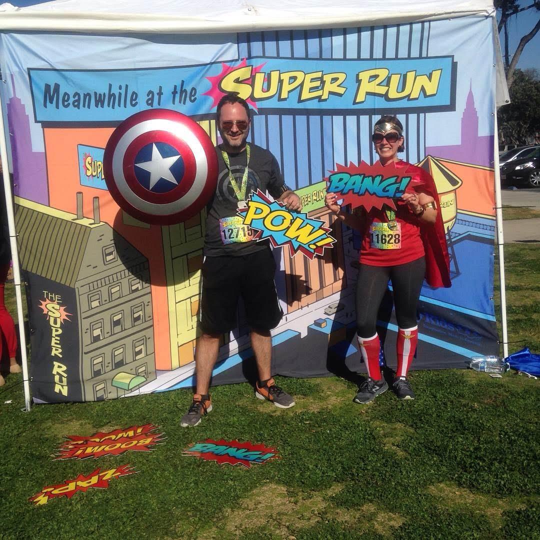 superhero run words shield