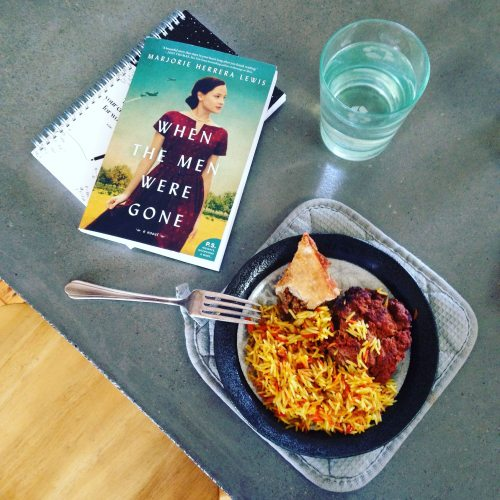 book water glass lunch Somali food