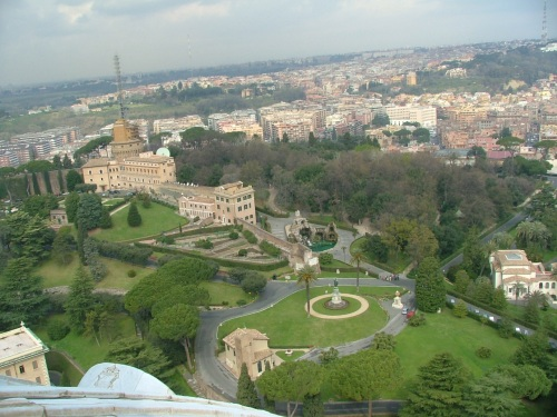 view from Vatican cupola Rome