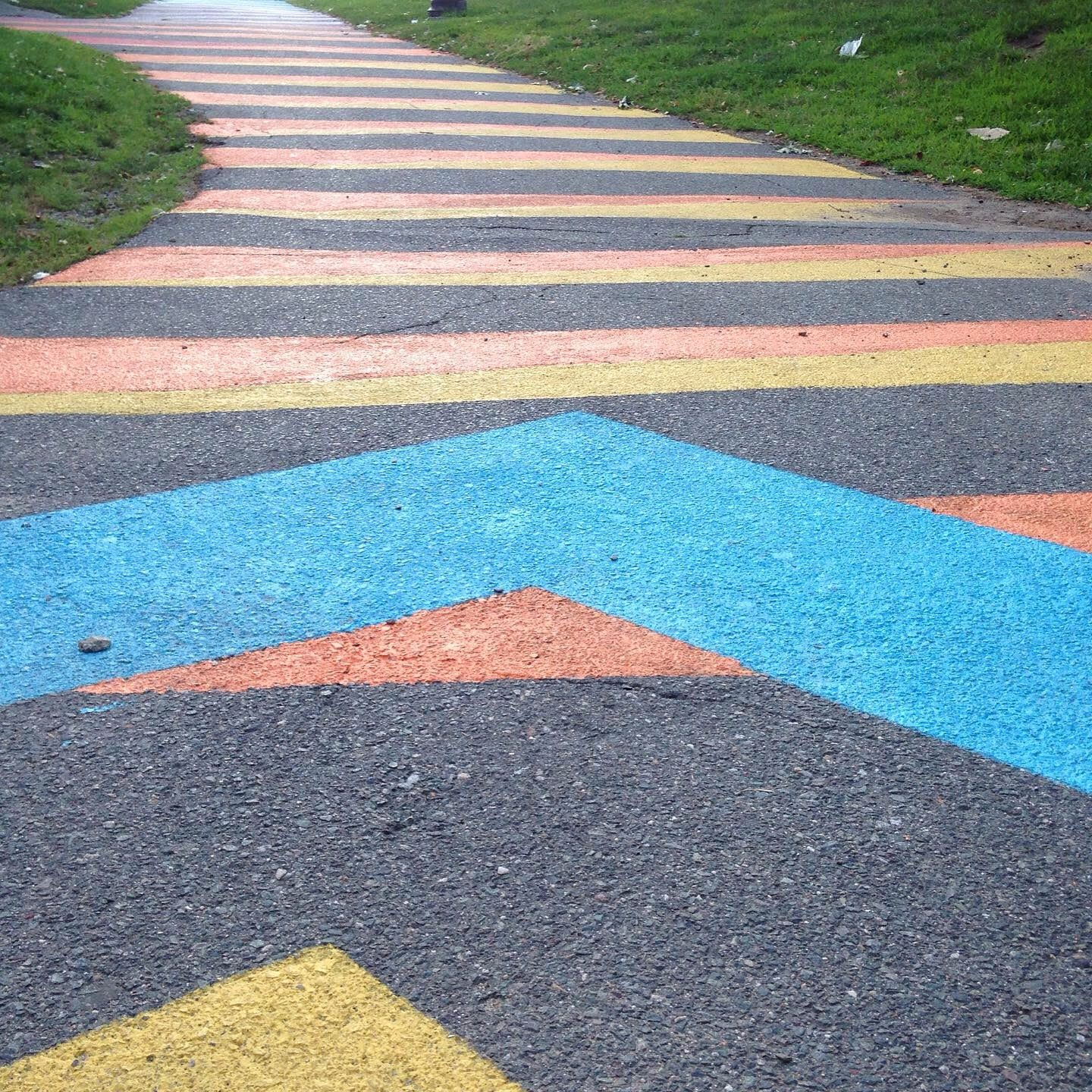 lines color greenway east Boston